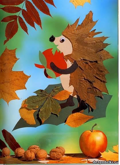 Поделки из природных материалов для детей - картинки.