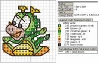 Подобрала несколько схем вышивки драконов и дракончиков.  Можно использовать их для жаккардового (цветного) вязания.