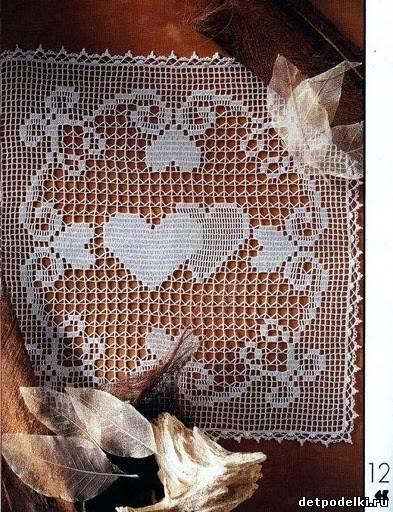 блог китайского поставщика филейное вязание салфеток крючком схемы