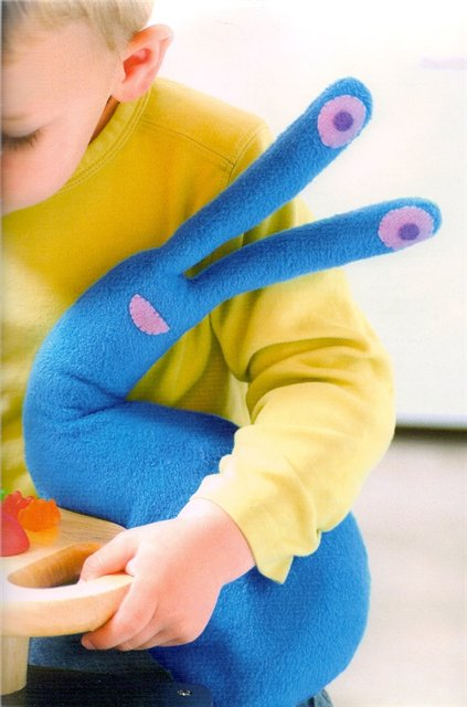 Оригинальная мягкая игрушка для малыша - улитка, выкройка.