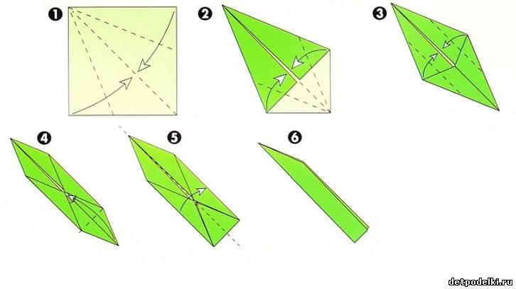 Оригами ромашка.