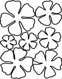 1) распечатайте один из шаблонов.  Добавьте листья или другие декоративные элементы.  Цветочная композиция готова!