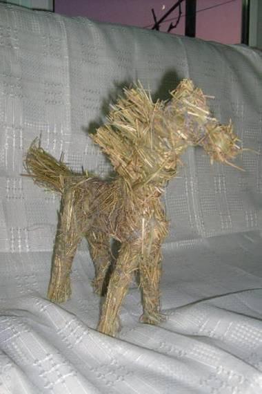 Как сделать соломенную лошадку Piroteka.ru
